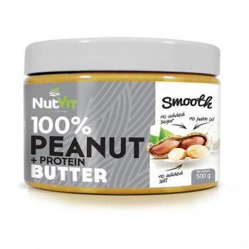 NutVit 100% Peanut + Protein Butter Smooth 500g WYSOKOBIAŁKOWE MASŁO ORZECHOWE