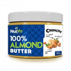 NutVit 100% Almond Butter Crunchy 500g MASŁO MIGDAŁOWE