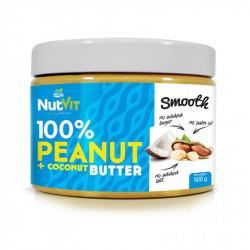 NutVit 100% Peanut + Coconut Butter Smooth 500g MASŁO ORZECHOWO KOKOSOWE