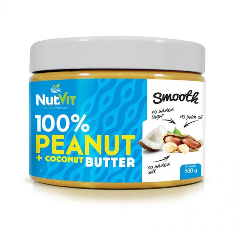 NutVit 100%Peanut + Coconut Butter Smooth 500g