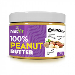 NutVit 100% Peanut Butter Crunchy 500g MASŁO ORZECHOWE