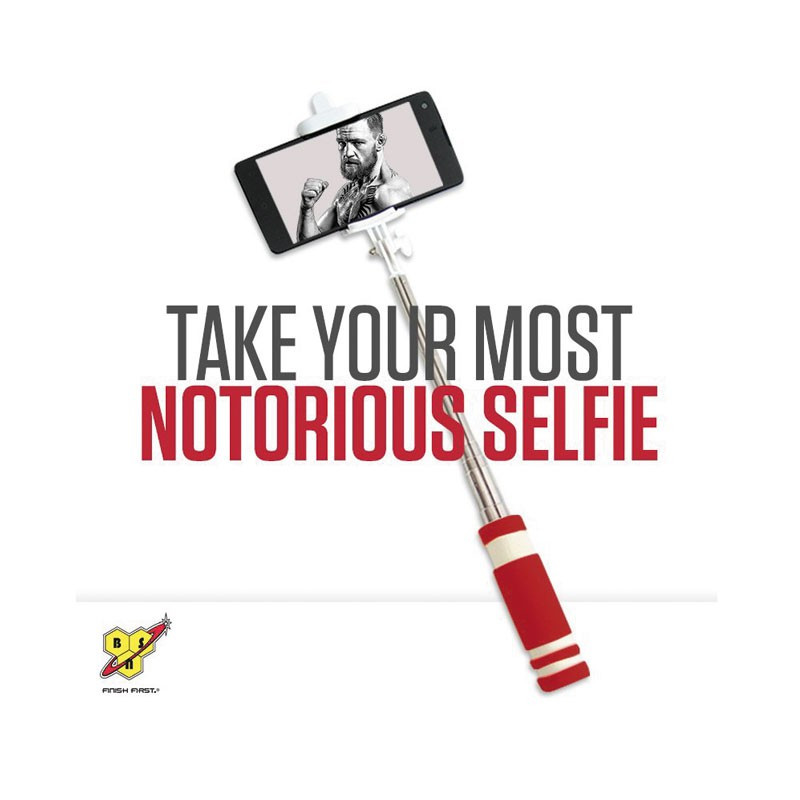 BSN Selfie Stick Red Silver