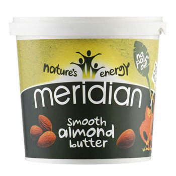 MERIDIAN Almond Butter Smooth 1000g MASŁO MIGDAŁOWE