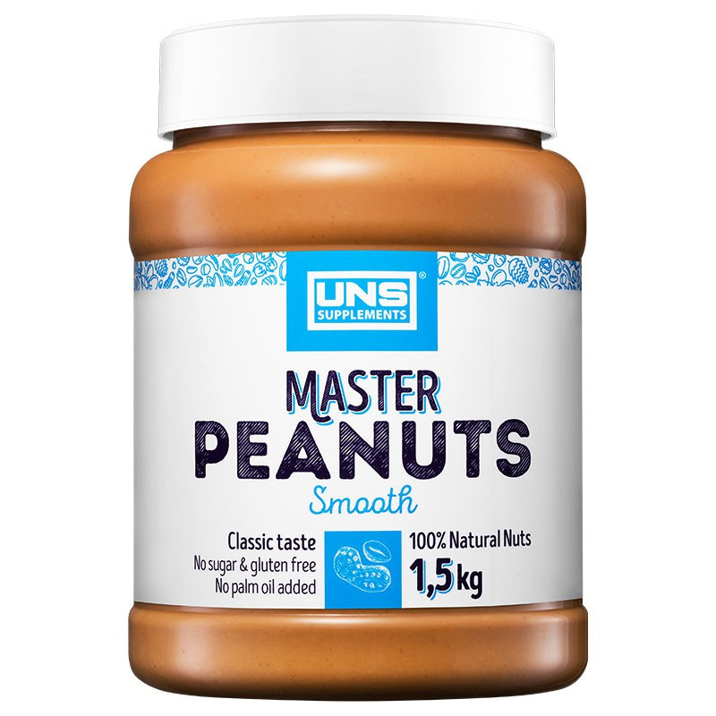 UNS Master Peanuts Smooth 1500g MASŁO ORZECHOWE