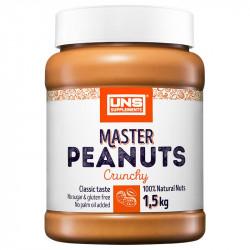 UNS Master Peanuts Crunchy 1500g MASŁO ORZECHOWE