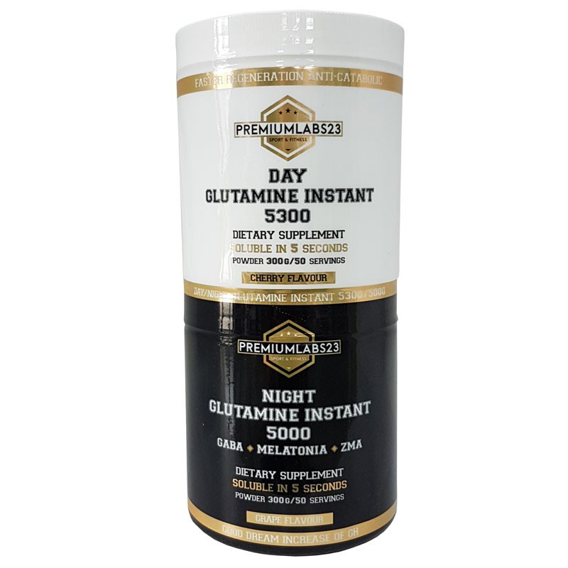PremiumLabs23 Day Glutamine Instant 5300 300g/Night Glutamine Instant 5000 300g