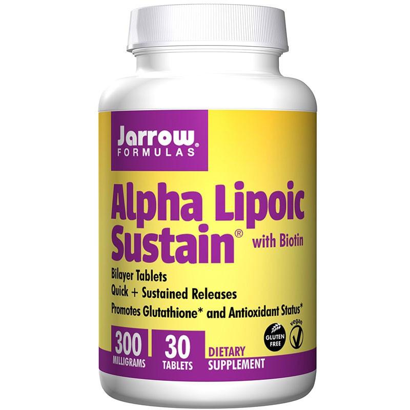 JARROW FORMULAS Alpha Lipoic Sustain With Biotin 30tabs