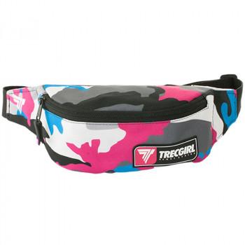 TREC Sport Bumbag 009 Trecgirl Pink White Nerka Na Biodro