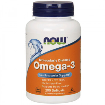 NOW Molecularly Distilled Omega-3 200caps