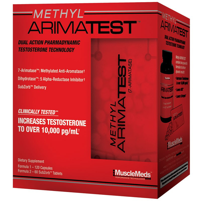 MUSCLEMEDS Methyl ArimaTest 120caps + 60tabs