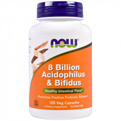NOW 8 Billion Acidophilus&Bifidus 120vcaps