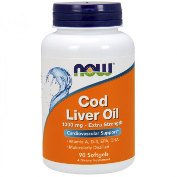 NOW Cod Liver Oil 1000mg Extra Strength 90caps