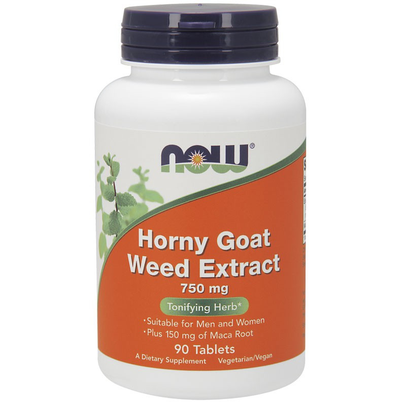 NOW Horny Goat Weed Extract 750mg 90tabs