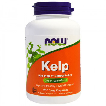 NOW Kelp 325mcg Of Natural Lodine 250vegcaps
