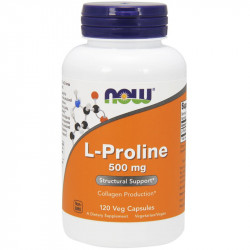 NOW L-Proline 500mg 120vegcaps