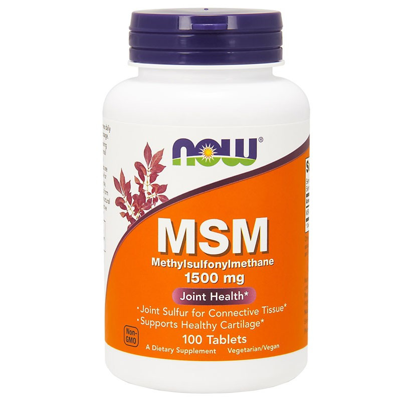 NOW MSM Methylsulphonylmethane 1500mg 100tabs