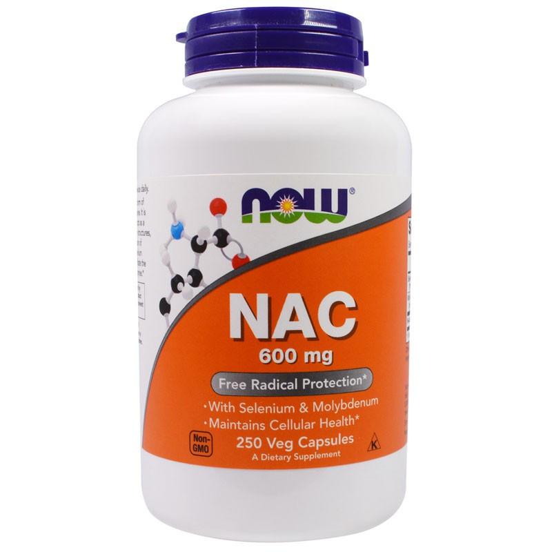 NOW NAC N-Acetyl Cysteine with Selenium&Molybdenum 600mg 250vegcaps