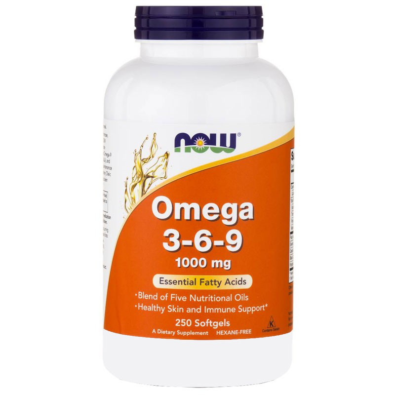 NOW Omega 3-6-9, 1000mg 100caps