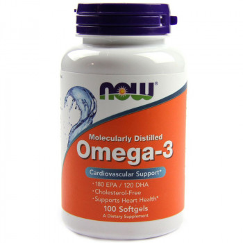 NOW Molecularly Distilled Omega-3 100caps