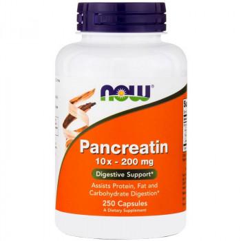 NOW Pancreatin 10x-200mg 250caps