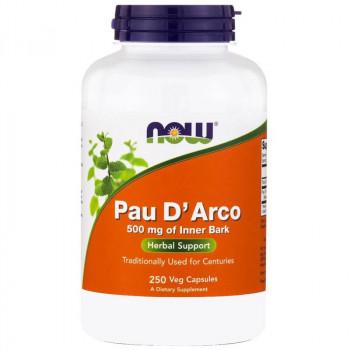 NOW Pau D'Arco 500mg Of Inner Bark 250vegcaps