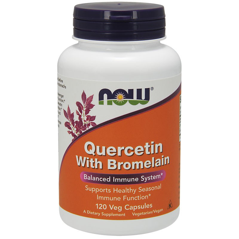NOW Quercetin With Bromelain 120vegcaps