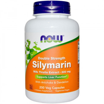 NOW Double Strength Silymarin Milk Thistle Extract 300mg 200vegcaps