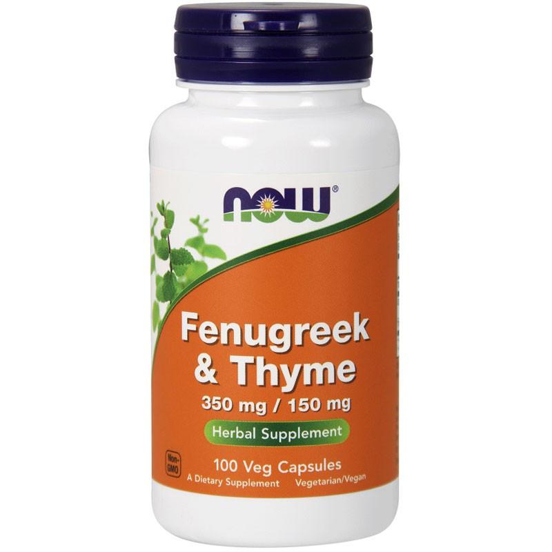 NOW Fenugreek & Thyme 350mg/150mg 100caps