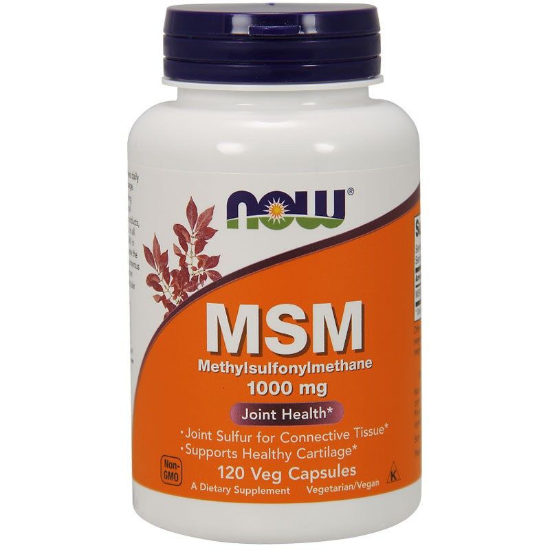 NOW MSM Methylsulphonylmethane 1000mg 120caps