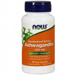 NOW Ashwagandha 450mg 90vegcaps
