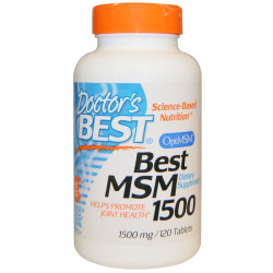DOCTOR'S BEST Best MSM 1500mg 120tabs