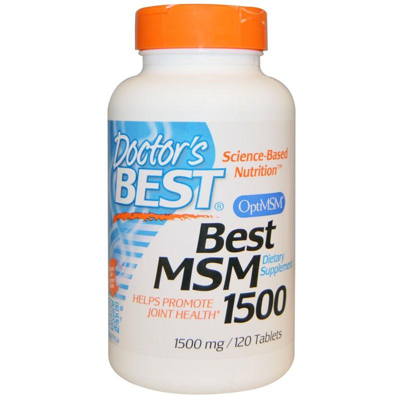 DOCTOR'S BEST Best MSM 1500mg 120tabs