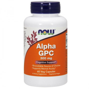 NOW Alpha GPC 300mg 60vegcaps