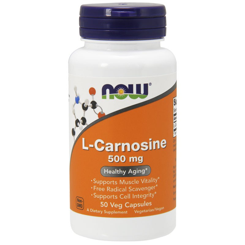 NOW L-Carnosine, 500mg 50vegcaps