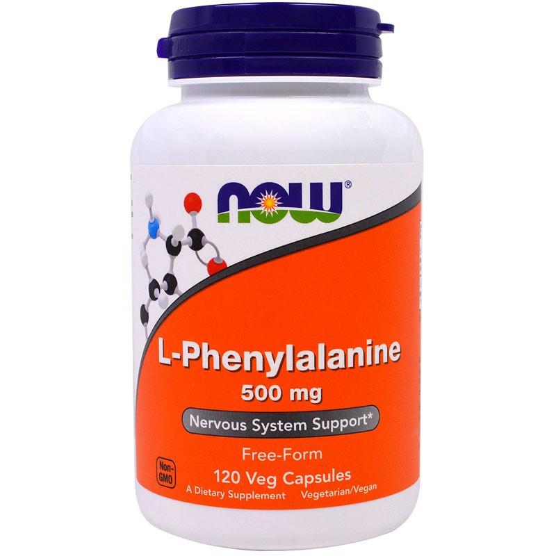 NOW L-Phenylalanine 500mg 120vegcaps