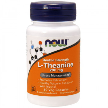 NOW Double Strength L-Theanine 200mg 60vegcaps