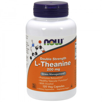 NOW Double Strength L-Theanine 200mg 120vegcaps