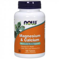 NOW Magnesium&Calcium 100tabs