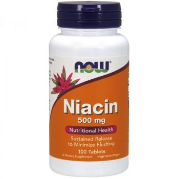 NOW Niacin 500mg 100tabs