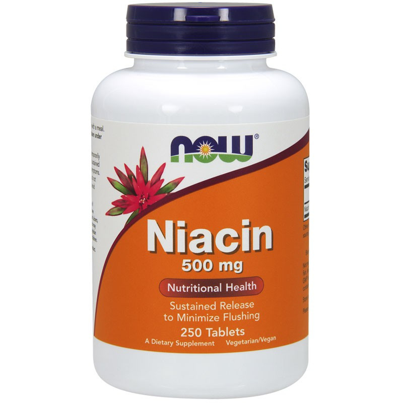 NOW Niacin 500mg 100tabs