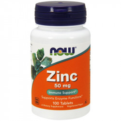 NOW Zinc 50mg 100tabs