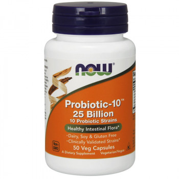 NOW Probiotic-10 25 Billion 10 Probiotic Strains 50vegcaps