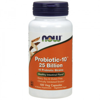 NOW Probiotic-10 25 Billion 10 Probiotic Strains 100vegcaps