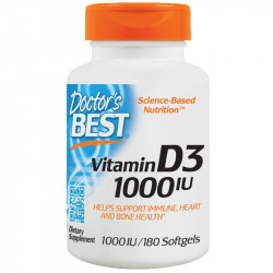 DOCTOR'S BEST Vitamin D3 1000 IU 180caps