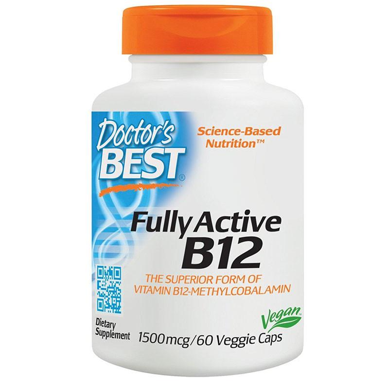 DOCTOR'S BEST Best Fully Active B12 1500mcg 60vegcaps
