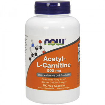 NOW Acetyl-L-Carnitine 500mg 200vegcaps
