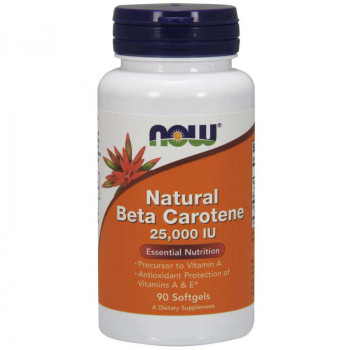 NOW Natural Beta Carotene 25000 IU 90caps
