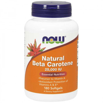 NOW Natural Beta Carotene 25000 IU 180caps