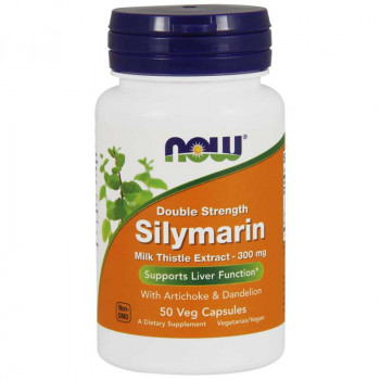 NOW Double Strength Silymarin Milk Thistle Extract 300mg 50vegcaps