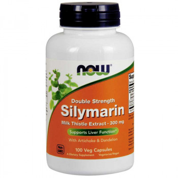 NOW Double Strength Silymarin Milk Thistle Extract 300mg 100vegcaps